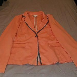 Ellen tracey peach blazer
